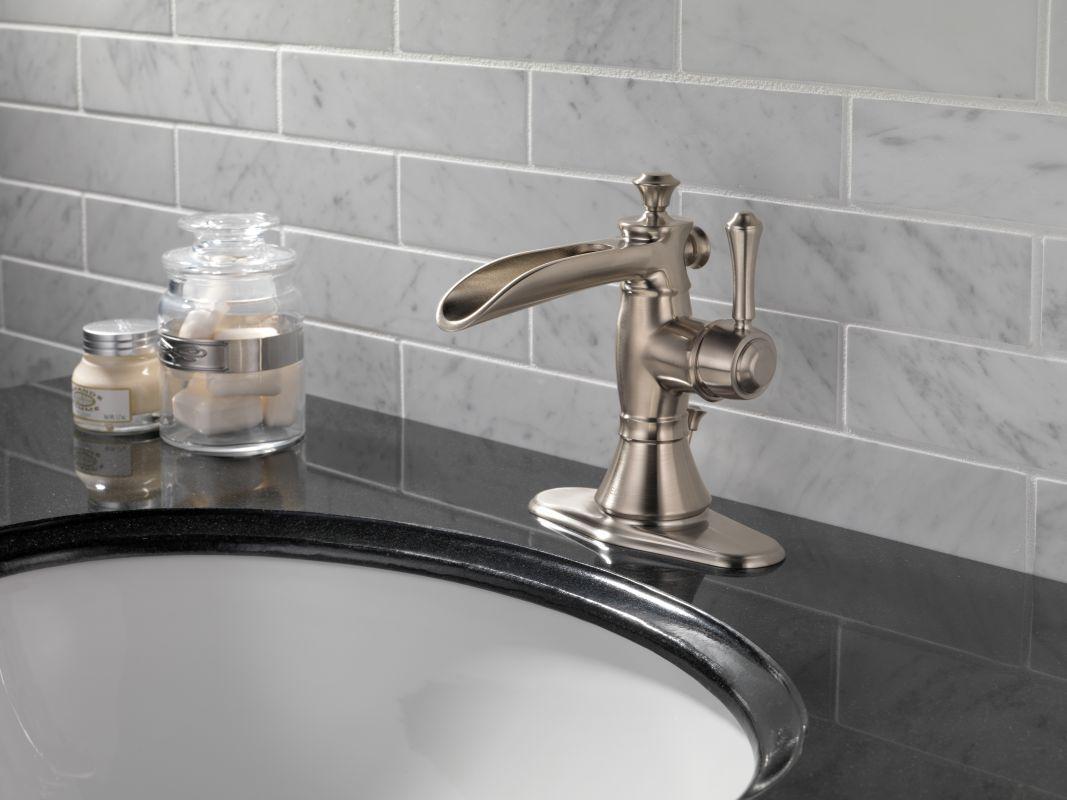 Delta 598lf Pnmpu Cassidy Single Hole Waterfall Build Com In 2021 Bathroom Faucets Bathroom Faucets Waterfall Single Hole Bathroom Faucet [ 800 x 1067 Pixel ]