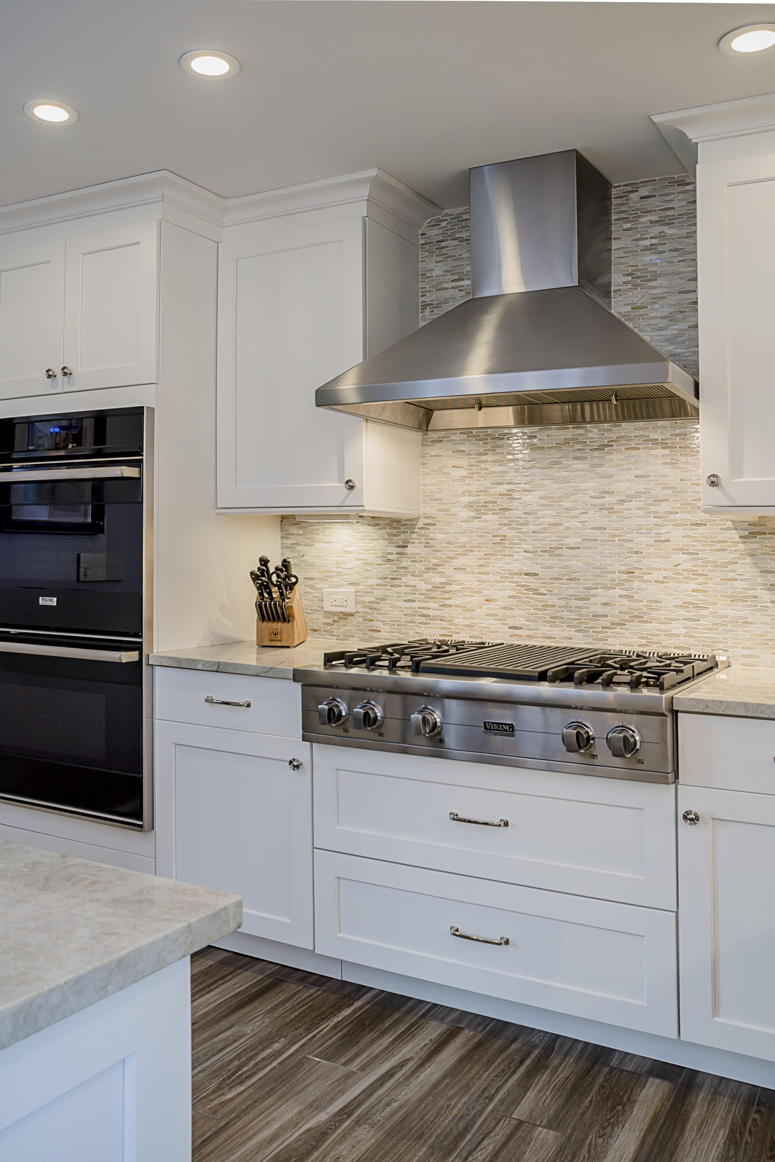 Viking Stainless Steel Hood. White Grey Kitchen. Kitchen Remodel ...