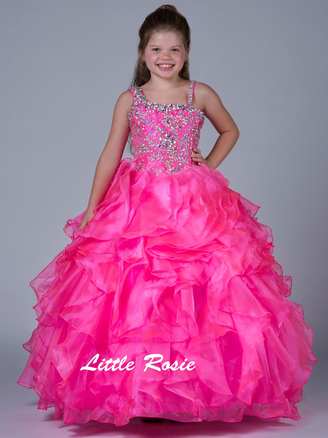 Little Rosie One Shoulder Pageant Dress LR2046|PageantDesigns.com ...