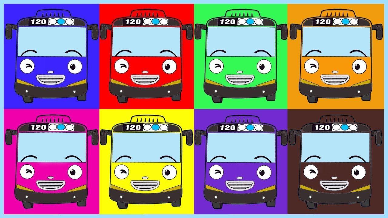 Learn Colors 8 Tayo The Little Bus Belajar Mewarnai Tayo Learn