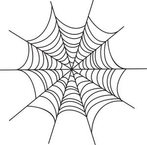 Spider Web Clipart Image: Creepy spider web Halloween graphic ...