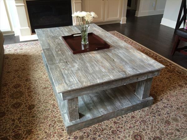 table basse palette bois