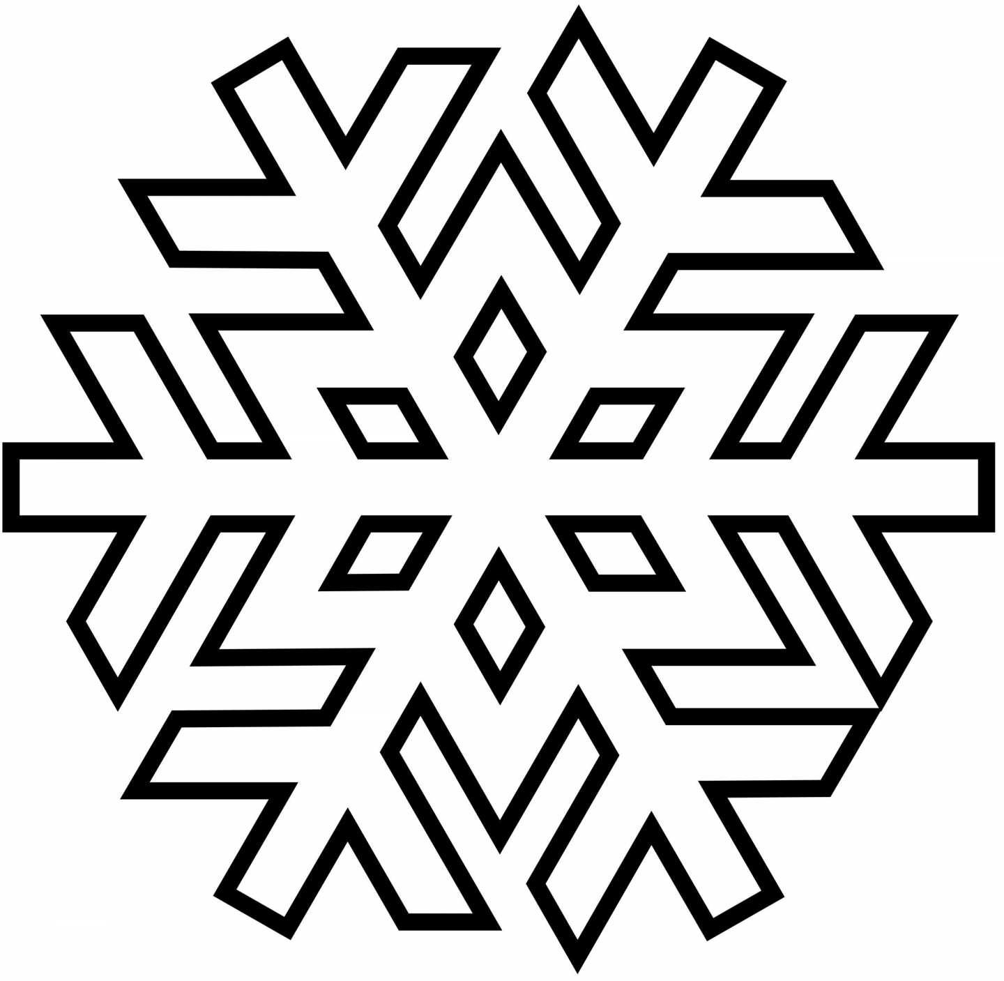 Image Result For Christmas Snowflake Picture To Color