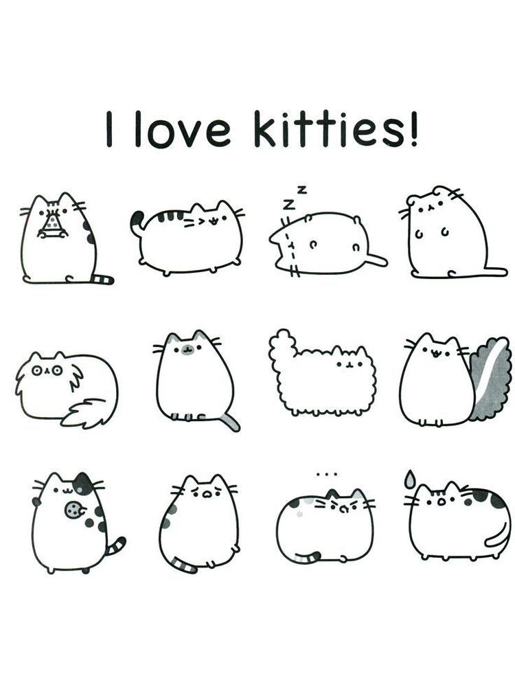 Pusheen Coloring Page 1 Pusheen Is A Female Cartoon Cat That Is A Comic Material And Sticker Set On Fa Pusheen Coloring Pages Coloring Pages Cat Coloring Page
