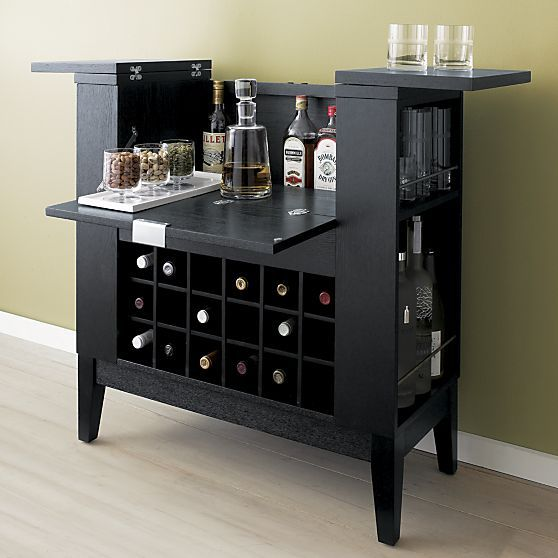 parker spirits ebony cabinet in bar cabinets u0026 bar carts