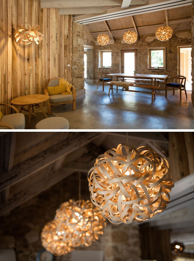 Steam Bent Wood Lighting And Furniture Designs From Tom Raffield Have Been Used To Furnish This Home Bent Wood Wood Light Furniture Design