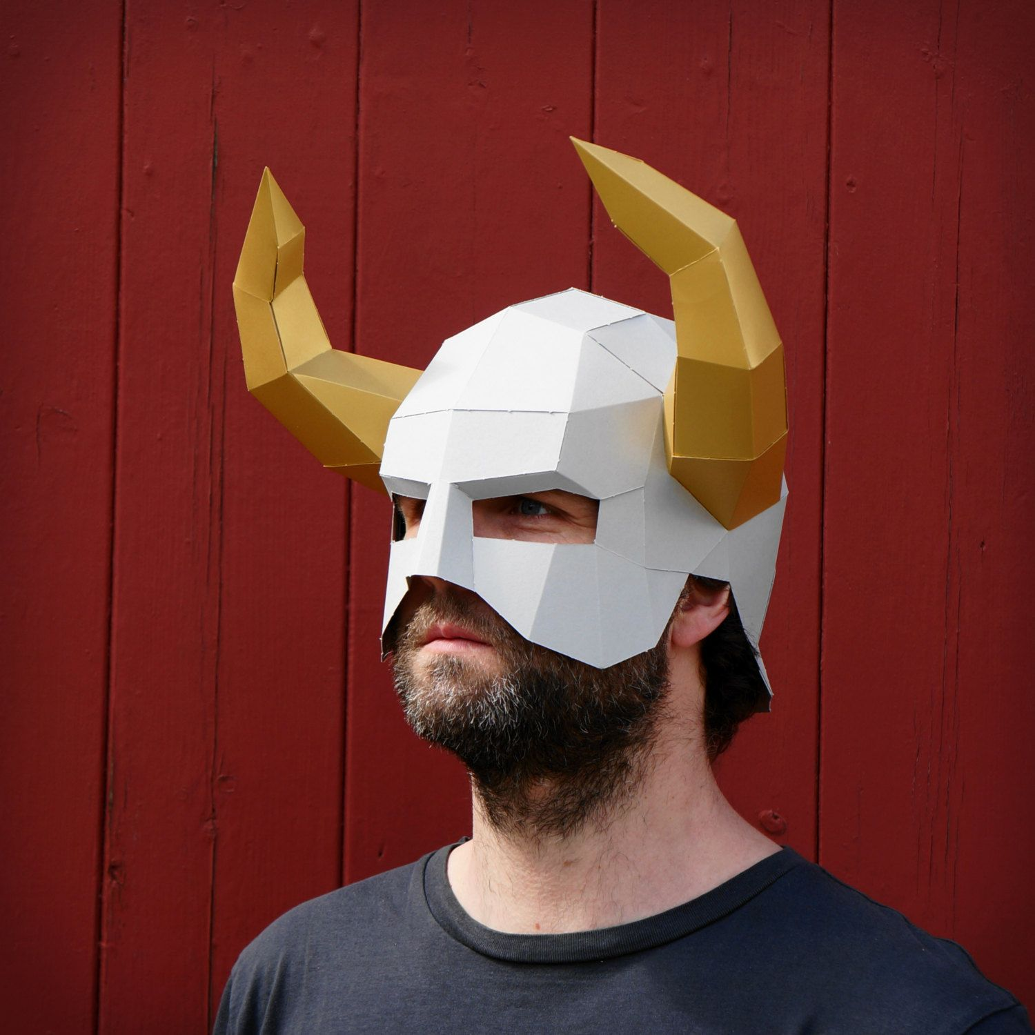Horned Barbarian Helmet - Make your own using a simple PDF download ...