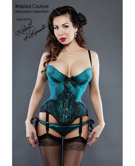 Seduce Underbust Lace Corset, Tight Lacing -CUSTOM your SIZE and COLOR by WaistedCorsets on Etsy https://www.etsy.com/listing/224684299/seduce-underbust-lace-corset-tight