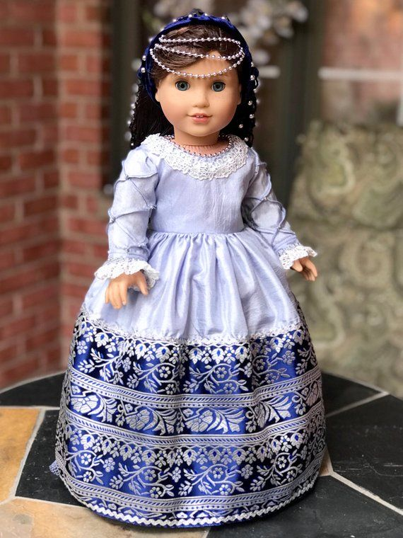 Italian Renaissance - One of a Kind historic gown for 18 inch doll ...