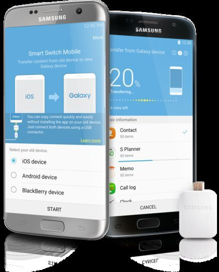 Samsung smart switch Share varies data in a jiffy