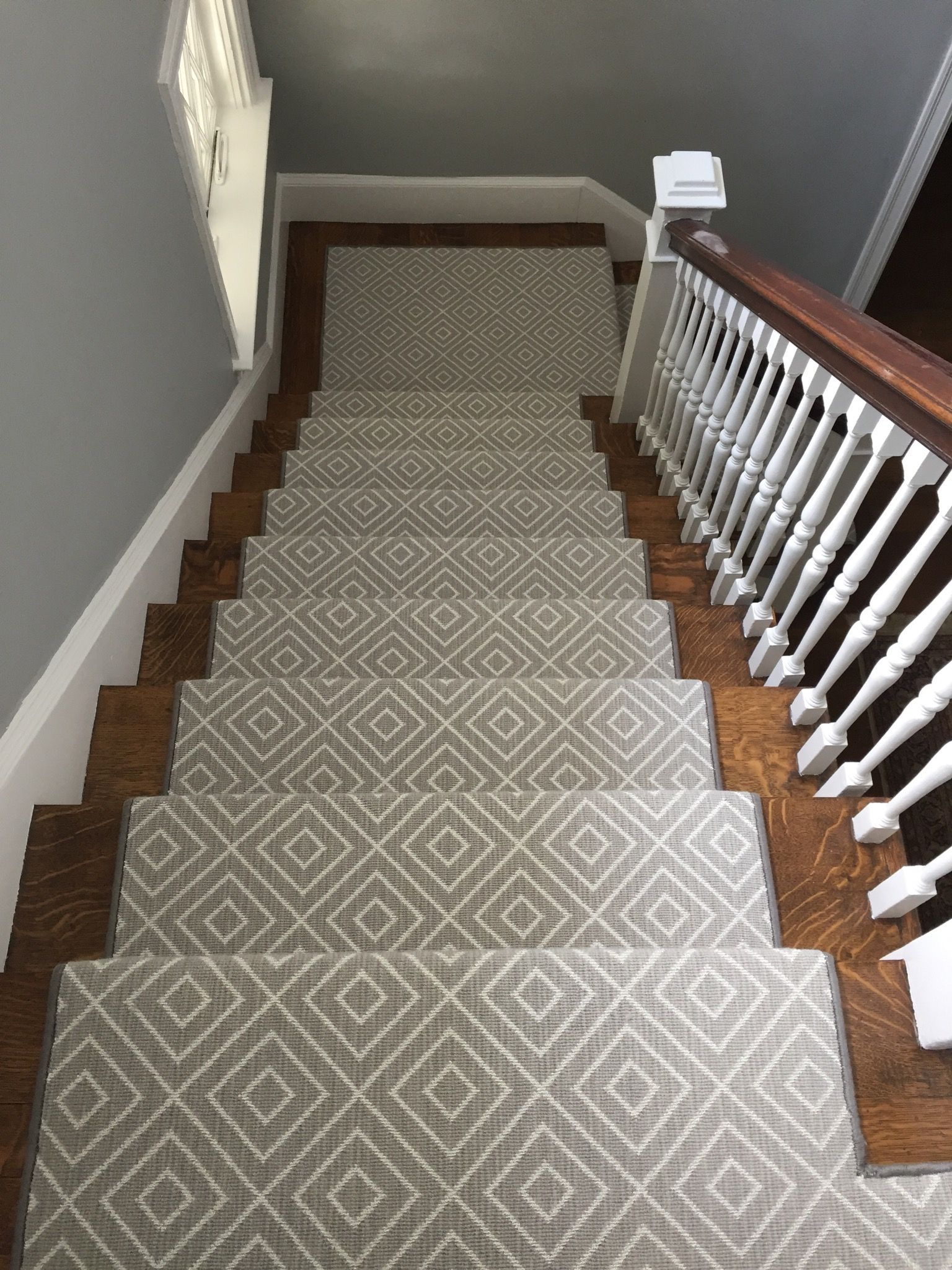 This Is A Wool Blend We Recently Fabricated And Installed | Carpet Runners For Carpeted Stairs