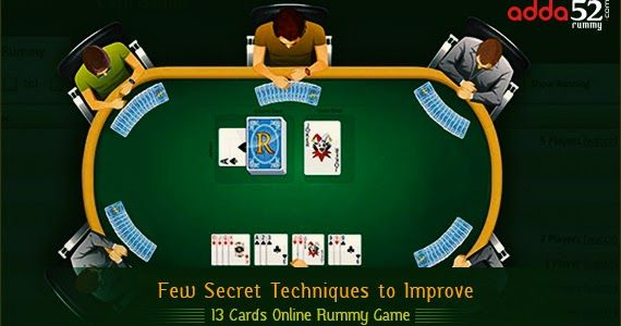 Few Secret Techniques To Improve 13 Cards Online Rummy Game Card