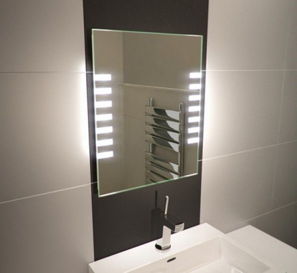 Platinum Tall LED Light Bathroom Mirror | Bathroom mirror ...