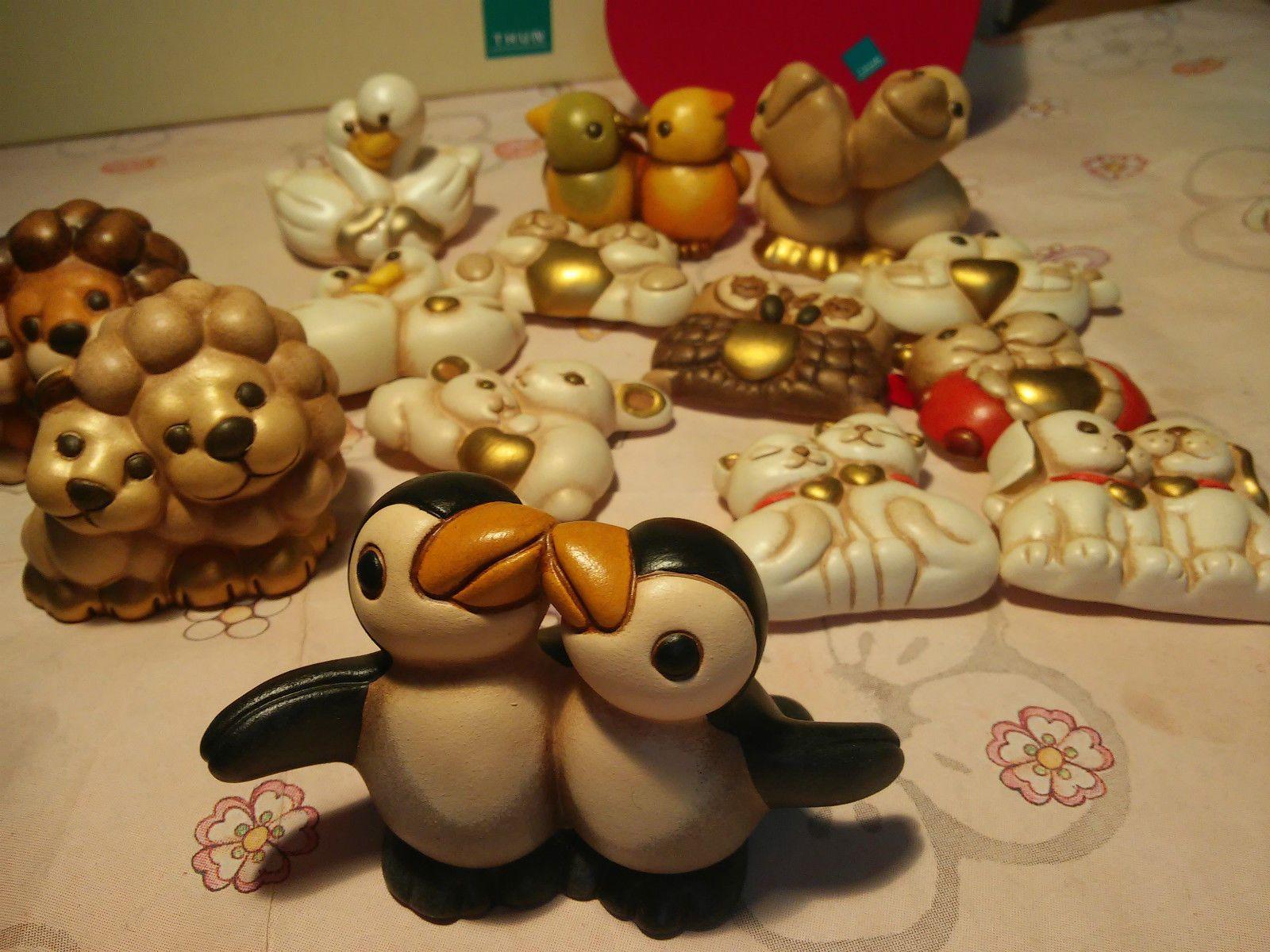 Thun Coppia Pinguini Animali marini RARI NUOVI Produzione 2011 Ultimi