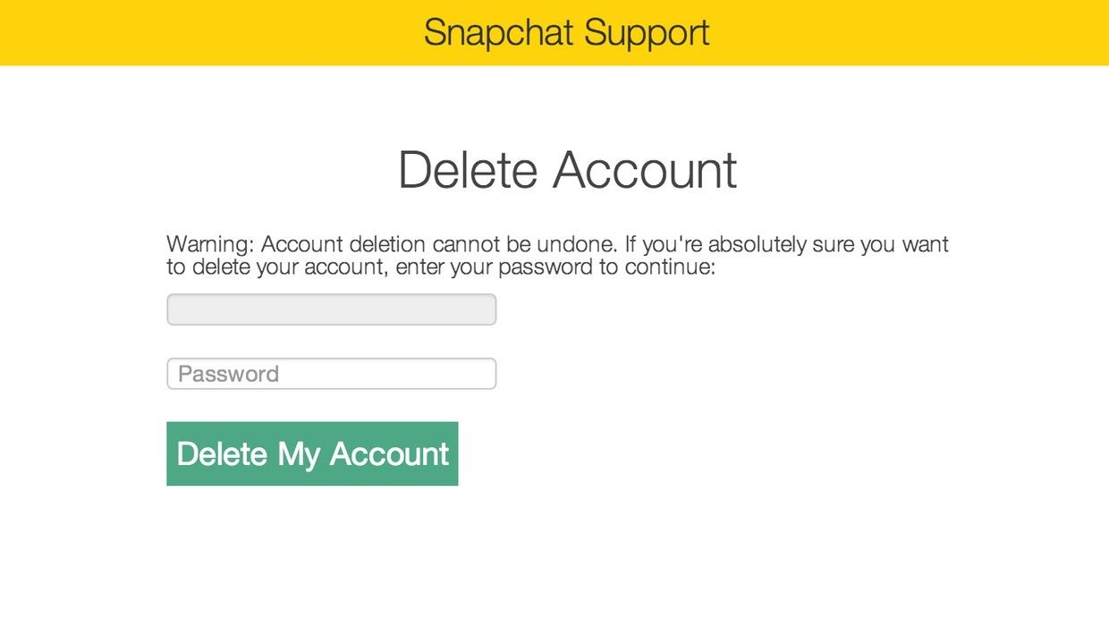 How To Change Your Snapchat User Name And Delete Your Account  Imore