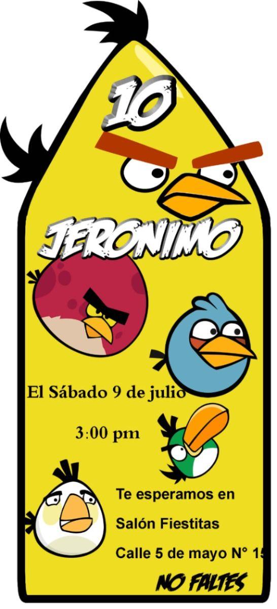 Invitaciones De Angry Birds Para Imprimir Pelautscom