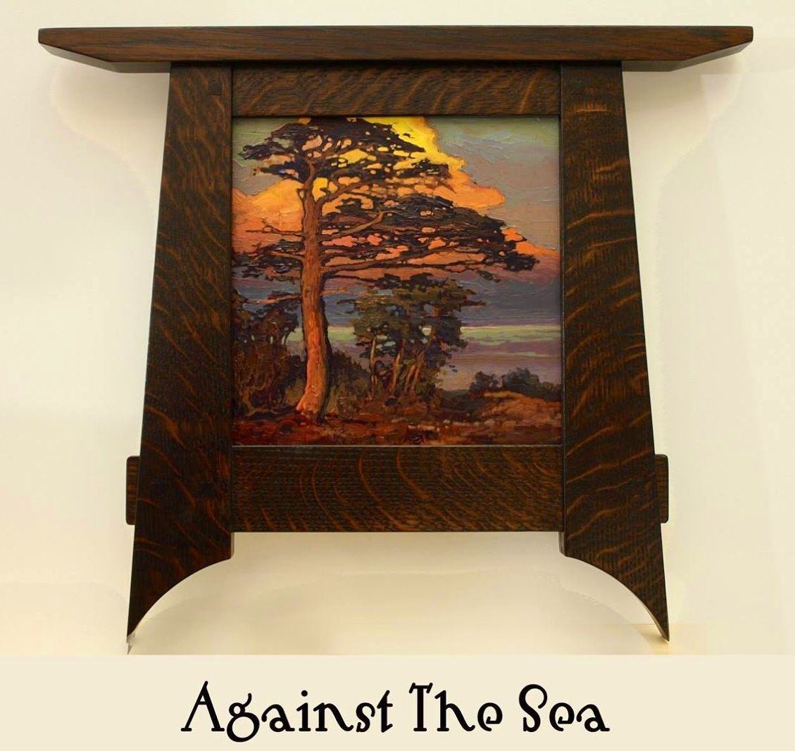 Jan Schmuckal Against The Sea Arts And Crafts Craftsman Bungalow Frame Arts Crafts Style Art And Craft Design Arts And Crafts Furniture