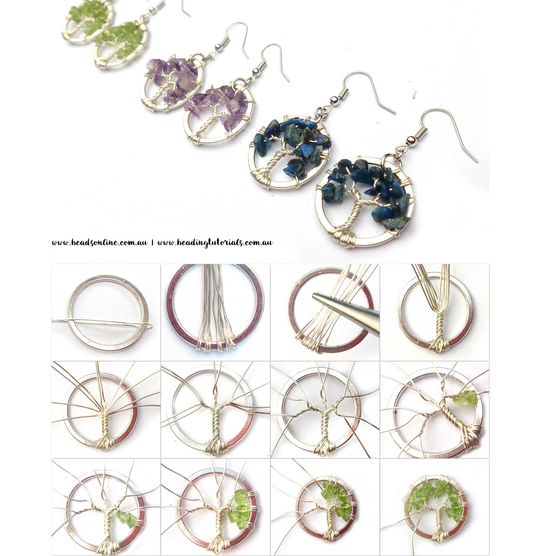 Tree of Life Earring Tutorial | Jewelry | Pinterest | Tutorials ...