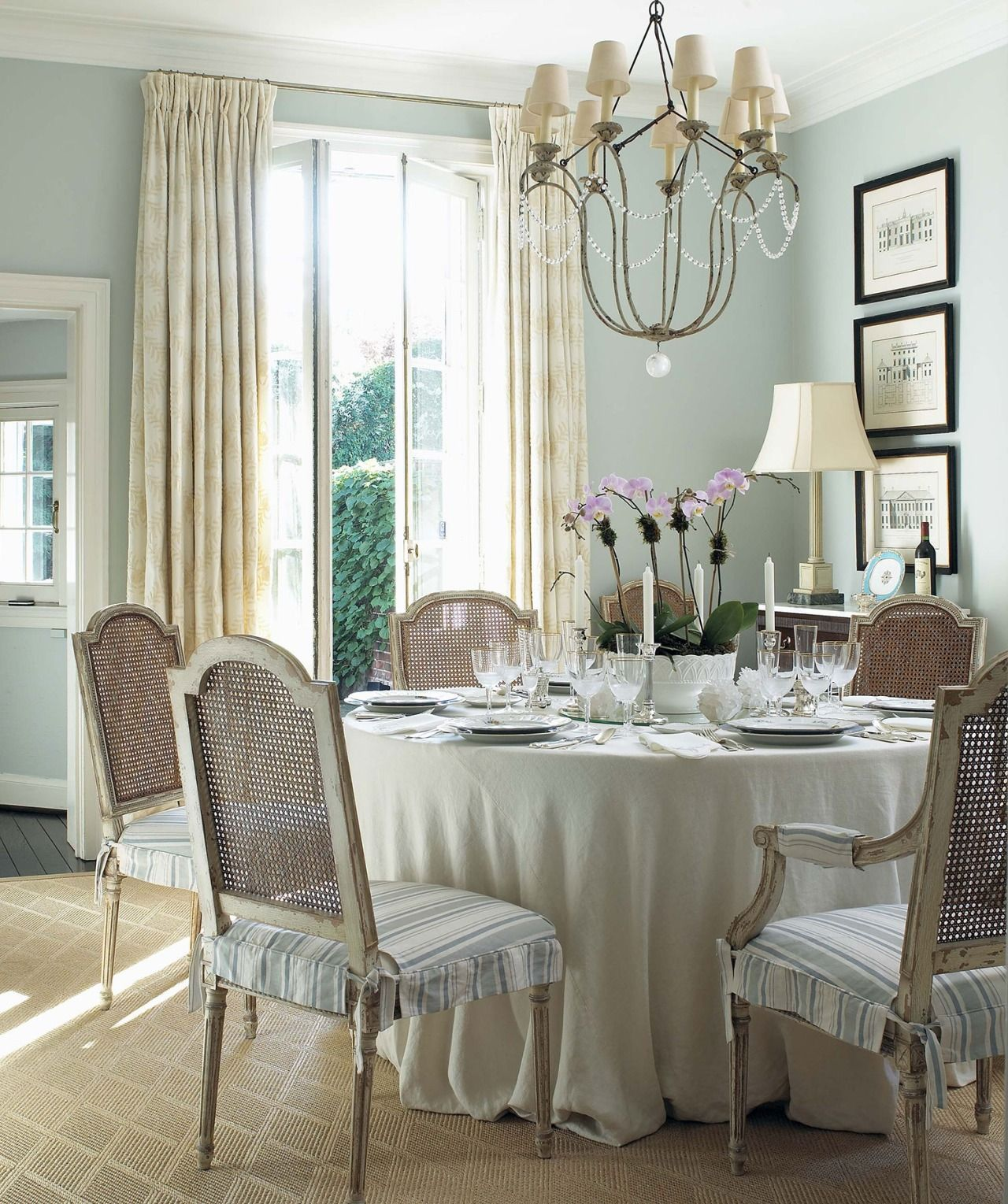 Dining Room Accent Pieces: Love The Color Scheme--the Softest Turquoise, Khaki, And
