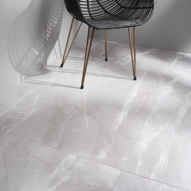 Lumina Mura Gris 24x48 Polished Porcelain Tile Polished Porcelain Tiles Porcelain Flooring Gray Porcelain Tile Floor