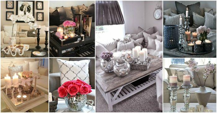 Wohnzimmer Blumen ~ Unterschiedliche wohnzimmer deko ideen für couchtisch mit blumen