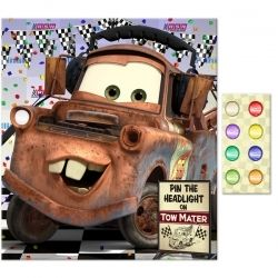 Disney Cars Pin The Headlight On Mater Game Disney Cars Party Cars Birthday Parties Cars Birthday