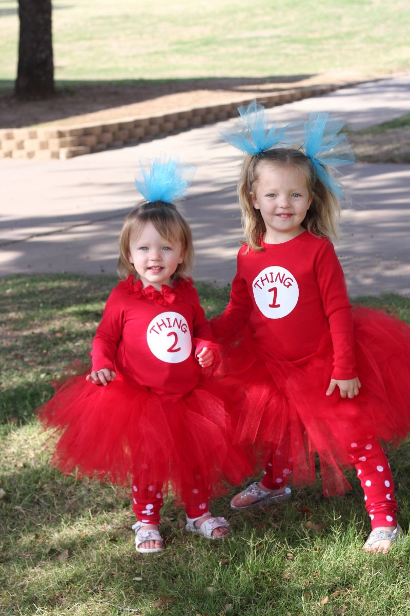 easy diy thing 1 and thing 2 costumes - Thing 1 Thing 2 Halloween Costume
