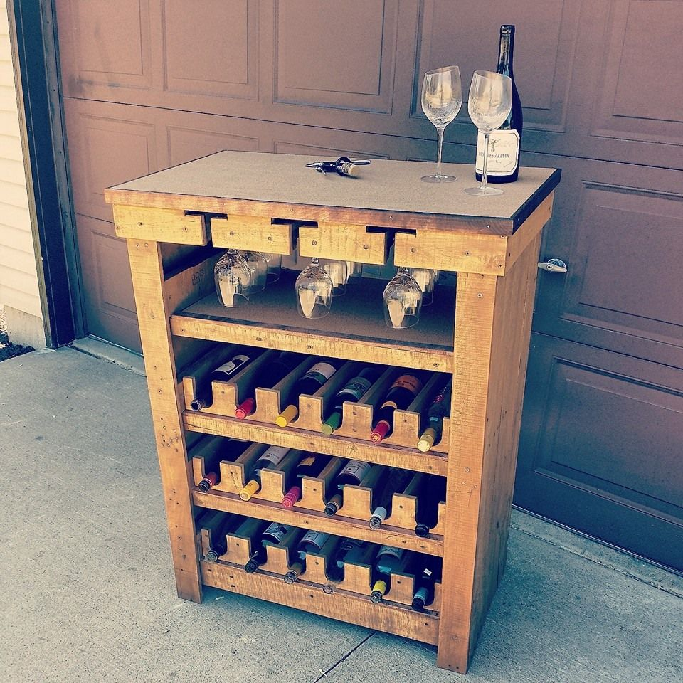 Repurposed Home Decor: An Old Dresser That I Repurposed Into An 18 Bottle Wine