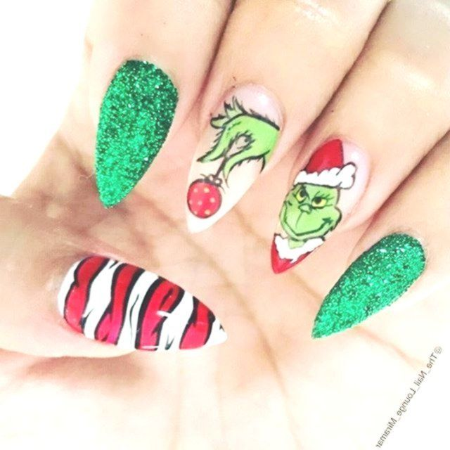 Christmas Nails Elf: Christmas Nails Grinch 1. Buddy The Elf 2. Classic Red