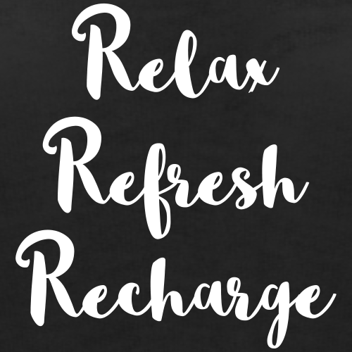 Relax refresh recharge motivational women 39 s wideneck 3 4 for Salon quotes of the day