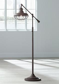 Franklin Park Ii Industrial Boom Rust Floor Lamp In 2019