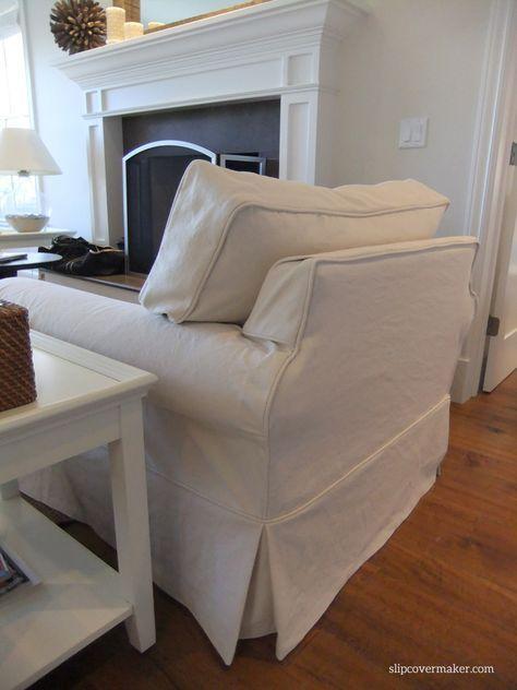 Washable Natural Denim Slipcovers For Lakeside Living