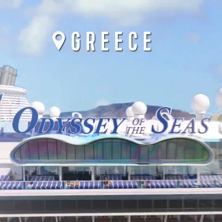 From bow to stern and Greece to Santorini, this is bold in every direction. 😍 #OdysseyoftheSeas #comeseek the #royalwow with #royalcaribbean.Book a cruise today! www.royalcaribbean.com