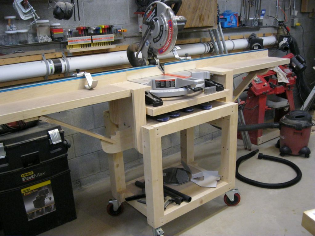 Chop Saw Stand Woodshop Pinterest Woodworking Tools