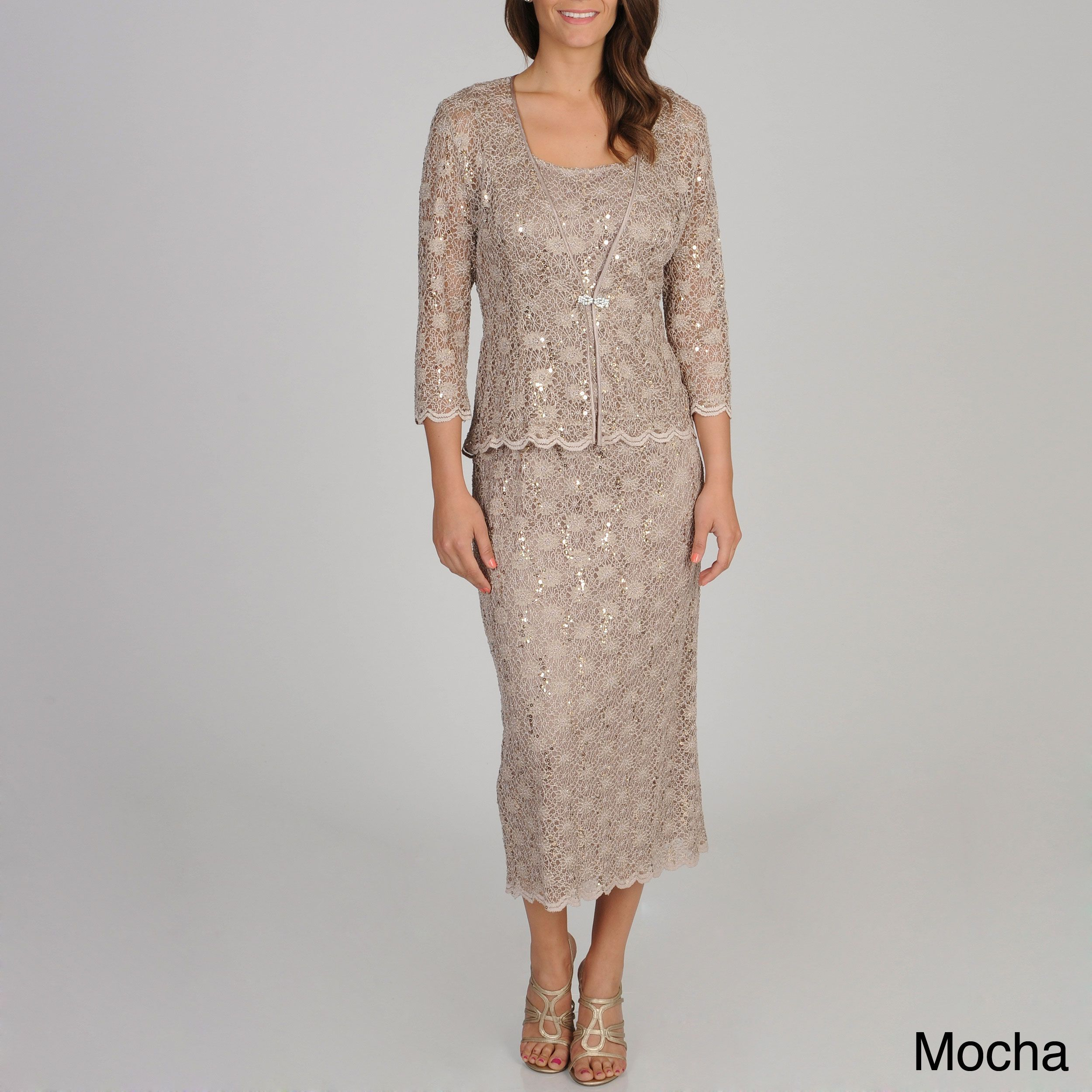 R u richards womenus sequined jacket dress products pinterest