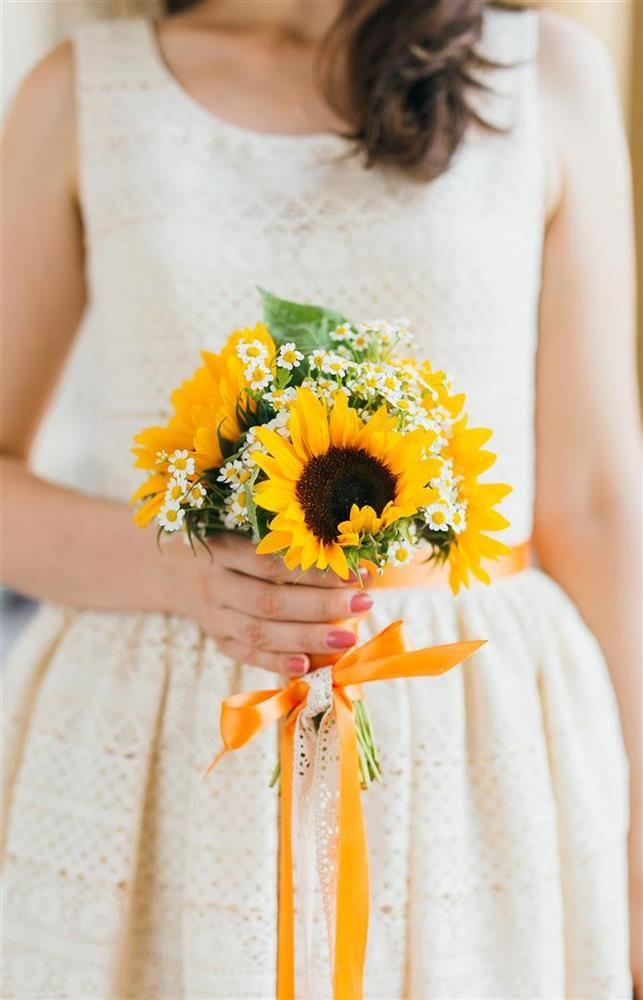 Orange Yellow Sunflower Wedding Design Vienna Sonnenblumen