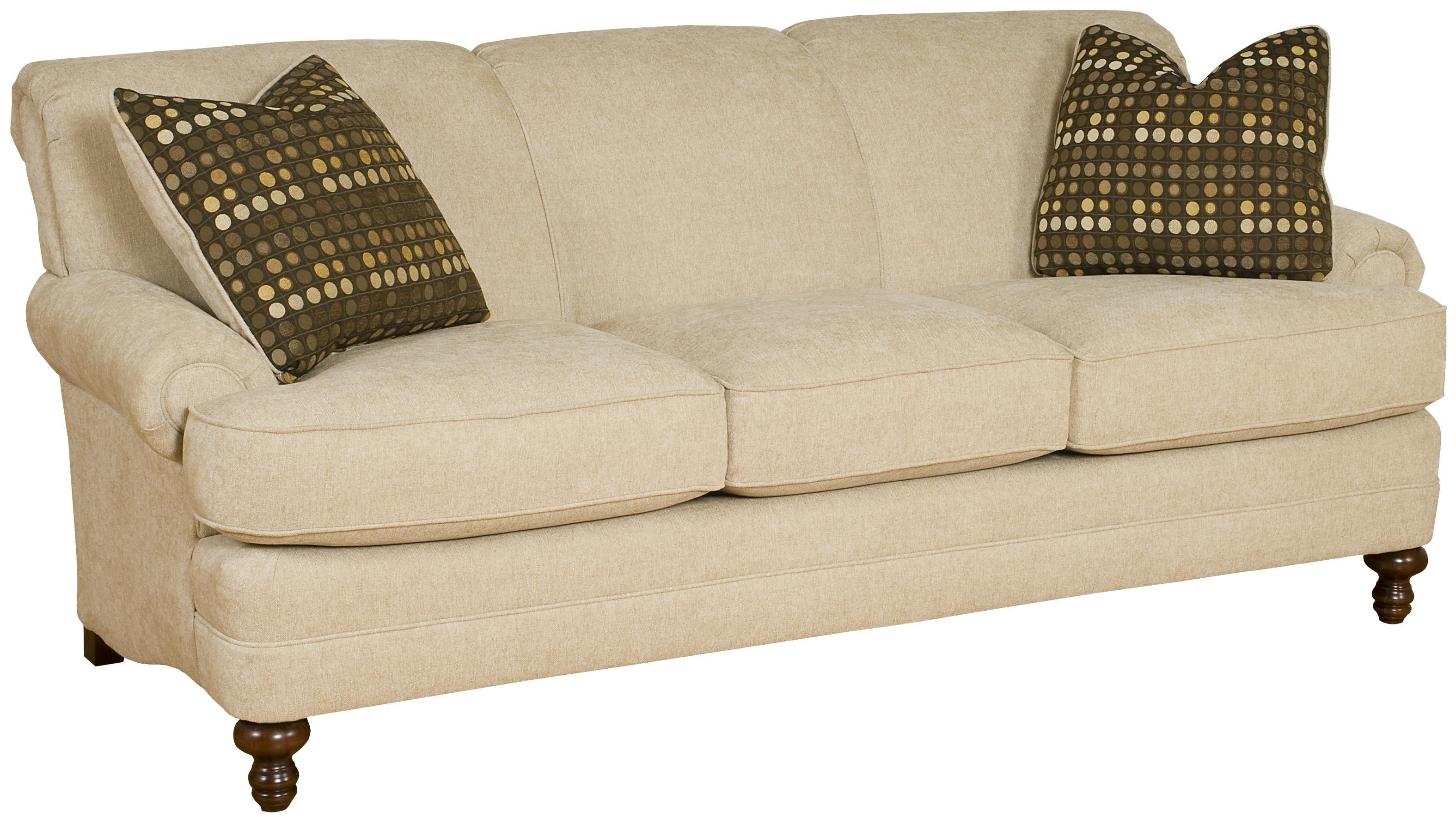 Amanda Casual Stationary Sofa by King Hickory Elegant