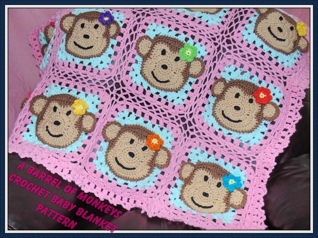 A Barrel of Monkeys Baby Afghan