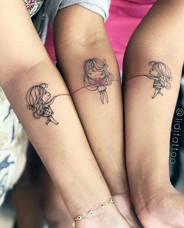 Cute Sister Tattoo Julie Tatouage Sister Tatouage Soeurs