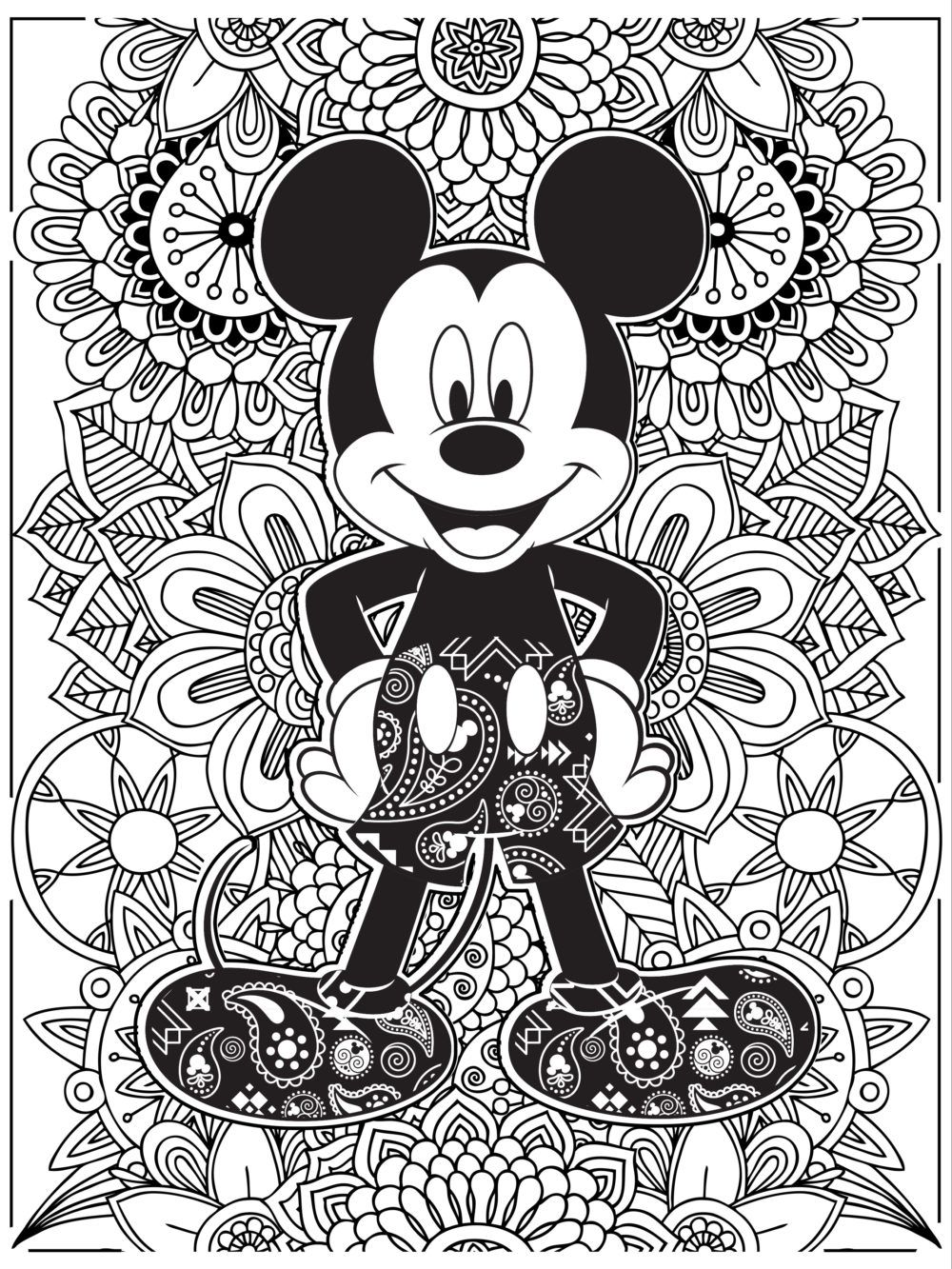 Celebrate National Coloring Book Day With   Mickey mouse ...   colouring pages for adults disney