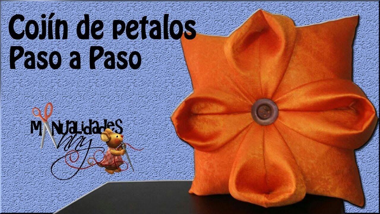 Clase Iv Cojin De Petalos Paso A Paso Manualidades Anny Diy Grinaldas Capitone Almofadas Personalizadas