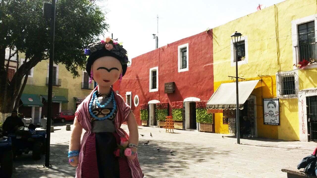 Frida en Puebla.