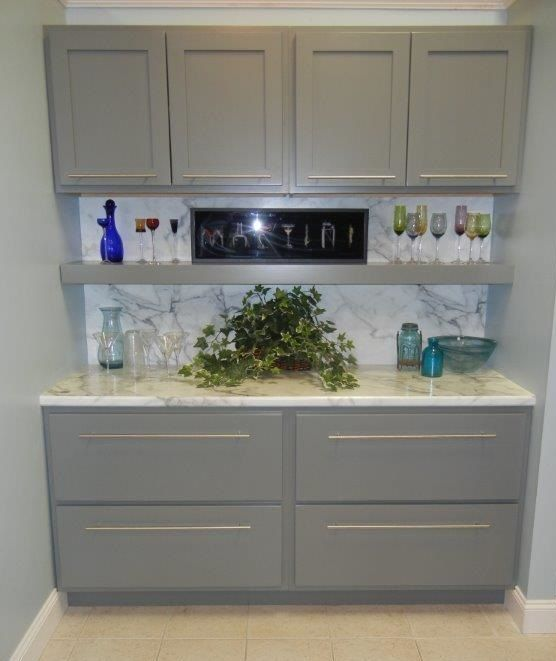 Woodmont Cabinets In Millstone Door Style Maple Wood With A North Sea  Finish And A Formica