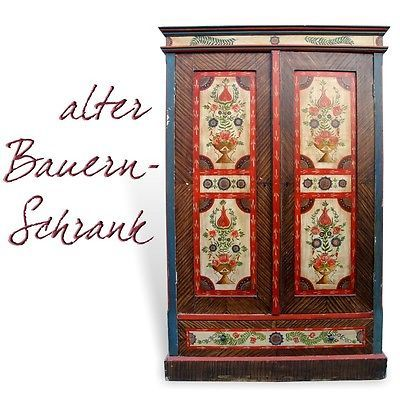 kleiderschrank bauernschrank dielenschrank holz garderobenschrank shabby chic bauernschrank. Black Bedroom Furniture Sets. Home Design Ideas