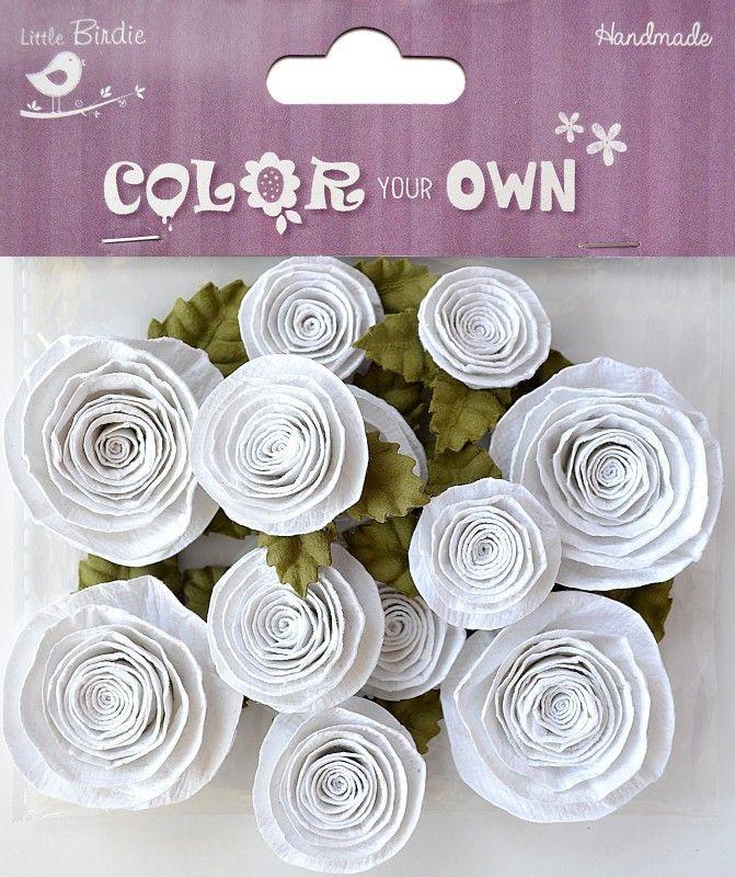 Little Birdie - Color Your Own - Spiral Rose (12 Pcs)