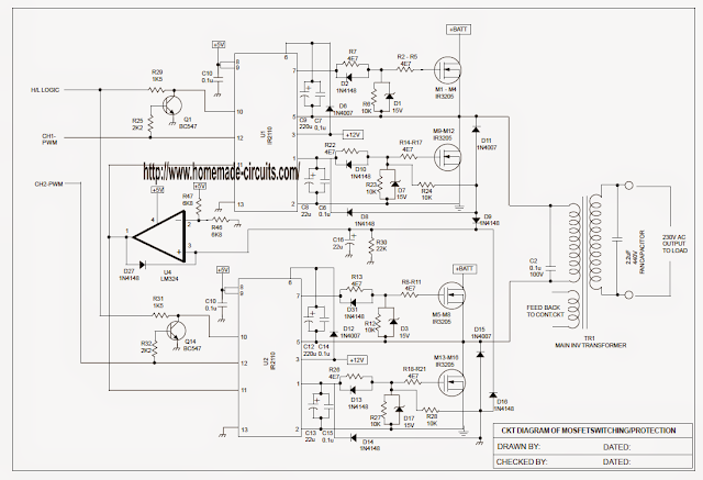 Sinewave UPS using PIC16F72 - Free Circuit Download | Electronice în