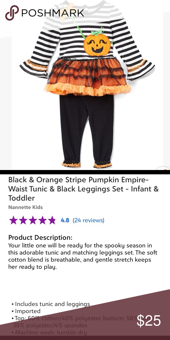 SALE Black & White Striped Pumpkin Tunic & legging
