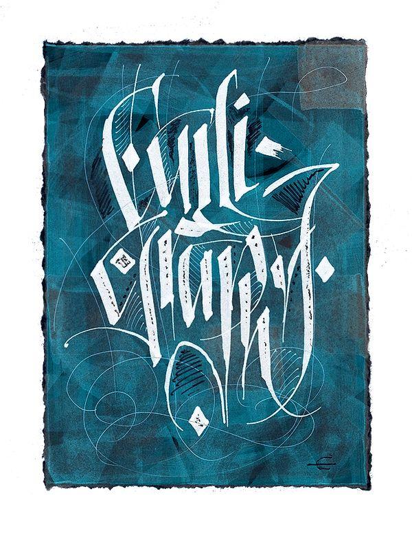 Calligraphy via Behance.