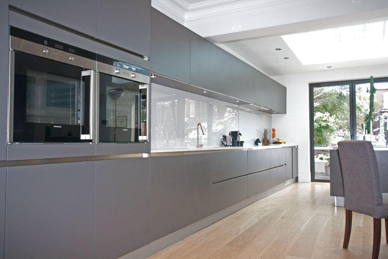 Handleless Matt Grey Kitchen Grey Is Such A Versatile Colour And A - Matt grey kitchen units