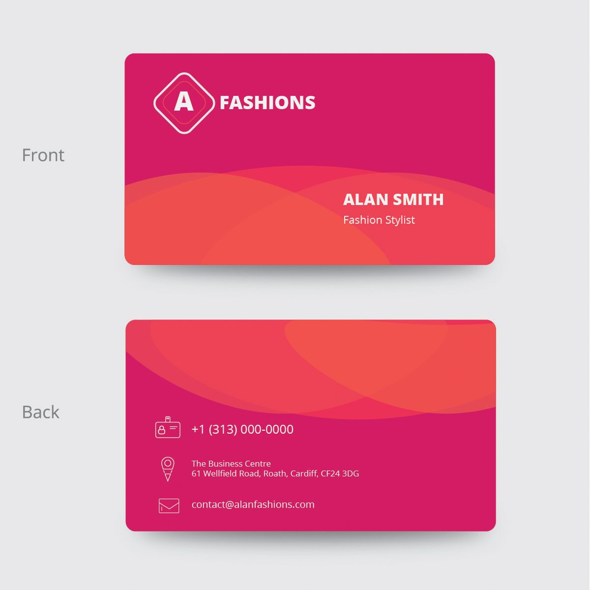 Fashion Business Card Design Fashion Business Cards Business Card Design Card Design